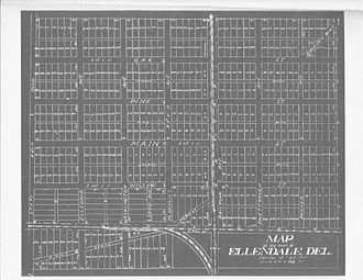 Ellendale, Delaware - Ellendale as surveyed in 1906