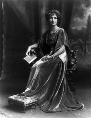 English: Emmeline Pankhurst, English political...