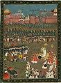 Emperor Aurangzebe at the siege of Golconda, 1687.jpeg