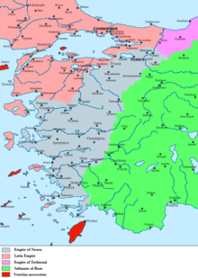 Map of early-13th-century Asia Minor.