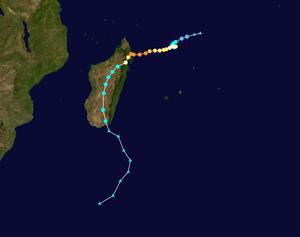 Cyclone Enawo - Image: Enawo 2017 track