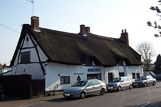 Enderby, Leicestershire - 4–6 Broad Street, a 16th-century thatched cruck cottage that is now a branch of Barclays Bank