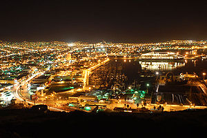Ensenada, Mexico at night