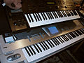 Ensoniq MR-61, Korg Trinity.jpg