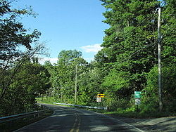 Entering Allamuchy Township along Alphano Road