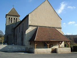 The church in Sauvigny-les-Bois