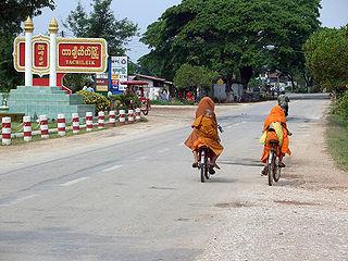 Tachileik Town in Shan State, Myanmar