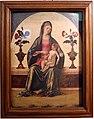Ercole de' roberti, madonna col bambino tra due vasi di rose, 01.jpg