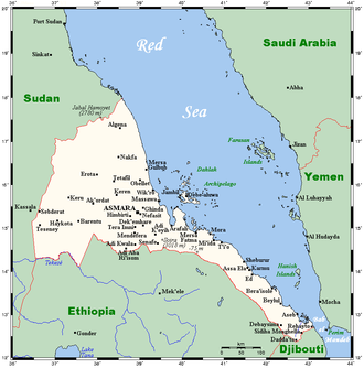 Geography of Eritrea - Eritrea's cities, towns and highest peaks