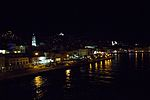 Ermoupolis on Syros, in evening from ship, 130029.jpg