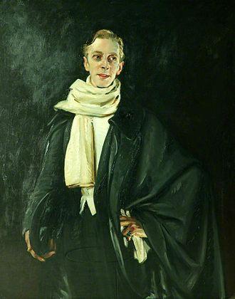 William Bruce Ellis Ranken - Portrait of Ernest Thesiger by Ranken, Manchester City Galleries