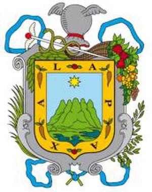 Xalapa - Image: Escudo de Armas de la ciudad de Xalapa Veracruz