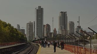 Palermo, Buenos Aires - The San Martín Line's Palermo train station.