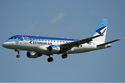 Embraer 170 der Estonian Air