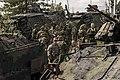 Estonian and US troops, Saber Strike 2014.jpg