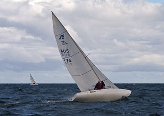 Etchells - An Etchells keelboat sailing off North Haven in South Australia.