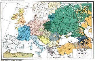 "Ukrainians in Kuban - Ethnographic map of Europe (1923) by C.S. Hammond. The Ukrainians have been designated ""Little Russians"""