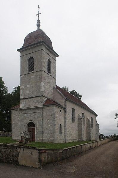 Église d'Étray (Doubs).