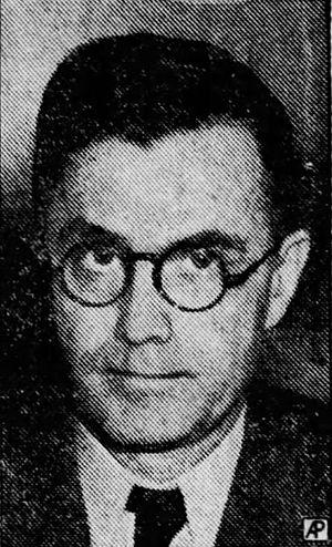 Eugene Talmadge - Newspaper photo of Talmadge during 1938 U.S. Senate campaign
