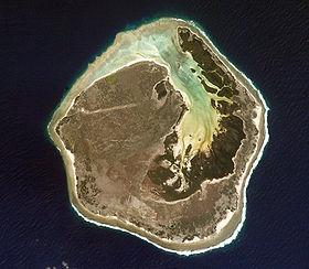 Image satellite de l'île Europa.