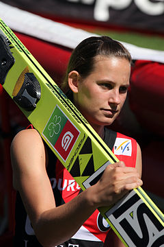 Eva Logar in Courchevel 2013