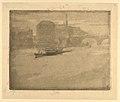 Evening Harbor Scene with Bridge (Mist on the Thames) MET DP834396.jpg