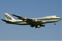 Eine Boeing 747-200SF der Evergreen International Airlines