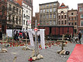 Exhibition on Old Town Square Market in Toruń after president's plane crash 2010.jpg