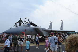 Cape Cod Air Show & Open House - F-15 From 101st Fighter Squadron during the 2007 Cape Cod Air Show