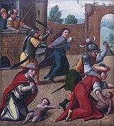 Le massacre des innocents, détail du panneau droit