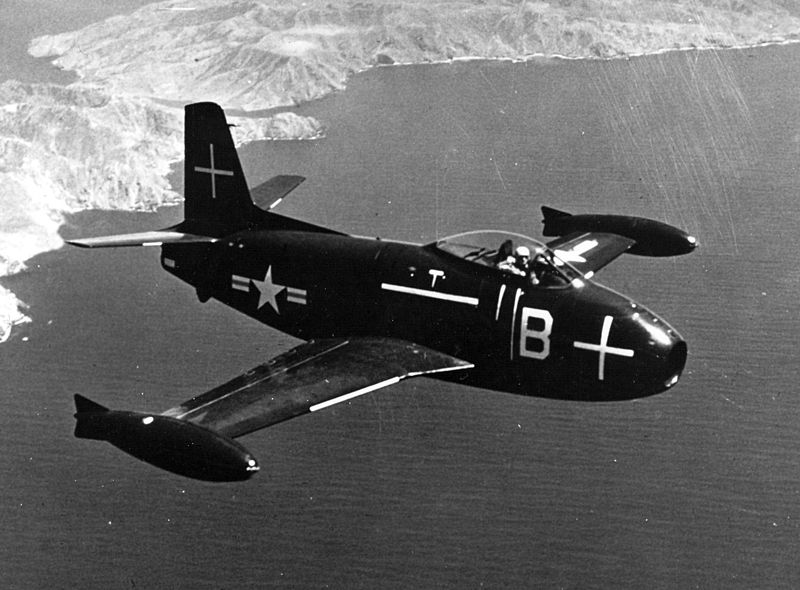 File:FJ-1 in flight.jpg