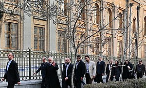 Mohammad Javad Zarif - Zarif outside of Iran's Ministry of Foreign Affairs