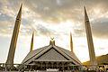 Faisal Masjid Islamabad during a cloudy evening.JPG