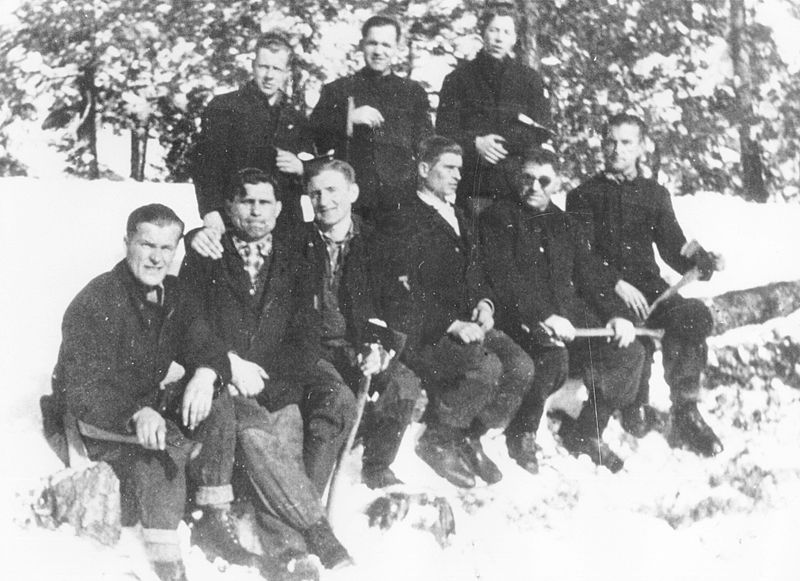File:Falstadfanger på skogsarbeid - Falstad prisoners at lumber-work (5488178335).jpg