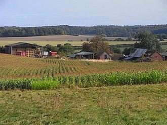 Speen, Berkshire - Image: Farmland, Woodspeen (geograph 1790999)