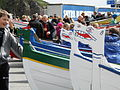 Faroese rowboats at Olavsoka 2011 in Torshavn.JPG