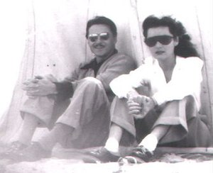 Fawzia Fuad of Egypt - Princess Fawzia with Ismail Chirine
