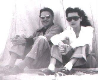 Fawzia Fuad of Egypt - Princess Fawzia with Ismail Chirine