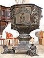 Fehmarn Burg St Nikolai baptismal font 02.jpg