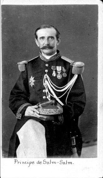 Felix Salm-Salm - Salm-Salm in Mexican uniform
