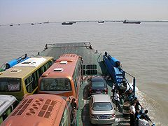 South-bound ferry near Nantong