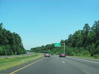 Fairfax County Parkway - The Parkway near its beginning, on Fort Belvoir property