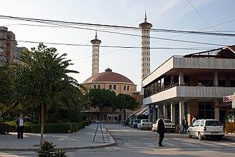Fier Mosque - Reconstructed modernist Mosque of Fier