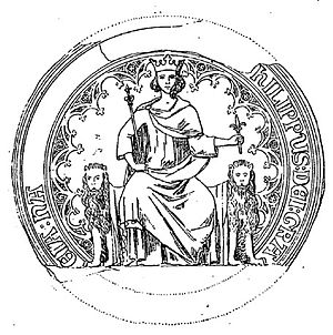 Philip III of Navarre - Seal of Philip III