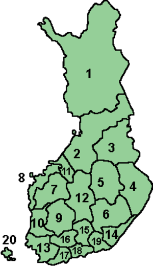 Sub-regions of Finland - Regions of Finland