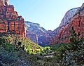 First Rays of Morning, Virgin River, Zion 5-14 (19212493703).jpg