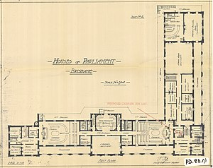 Parliament House, Brisbane - First floor, 1920