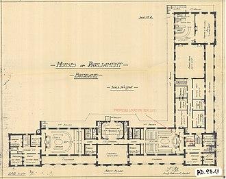 Parliament House, Brisbane - First floor, 1920