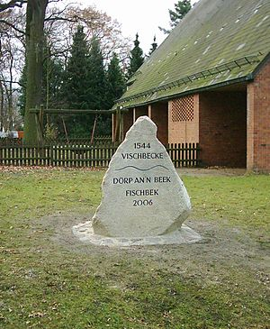 Neugraben-Fischbek - Memorial stone for the foundation of Fischbek 1544