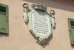 Photo of Elias Holl stone plaque
